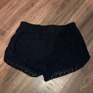 flowy fabric shorts